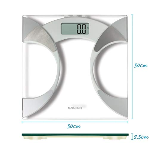 Salter ultra slim analyser bathroom scales measure weight - How to calibrate a bathroom scale ...