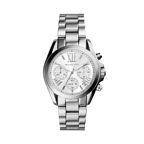 Michael Kors Women's Mini Bradshaw Silver-Tone Watch - Kors Mark