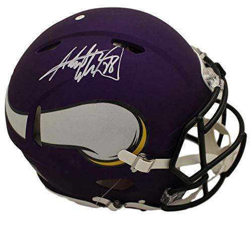 - Adrian Peterson Autographed/Signed Minnesota Vikings Speed Proline White Helmet BAS