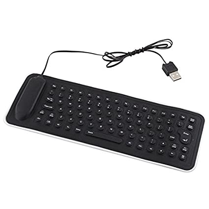 calistouk portátil USB Mini PC de silicona flexible teclado plegable para ordenador portátil