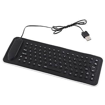 calistouk portátil USB Mini PC de silicona flexible teclado plegable para ordenador portátil: Amazon.es: Electrónica