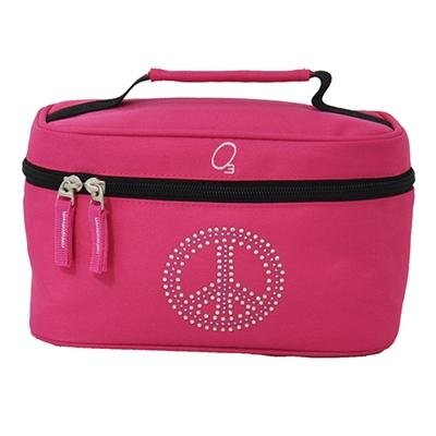 Kids Travel Toiletries Bag, Personal Organizer For Bathroom And Shower Needs (Bling Rhinestone Peace) - Obersee