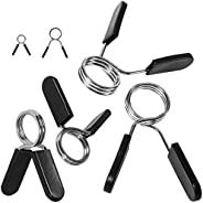 """Spring Clips by Day 1 Fitness, Set of 2 – Your Choice 1"""" for Standard Bar OR 2"""" for Olympic Barbell Weight and"""