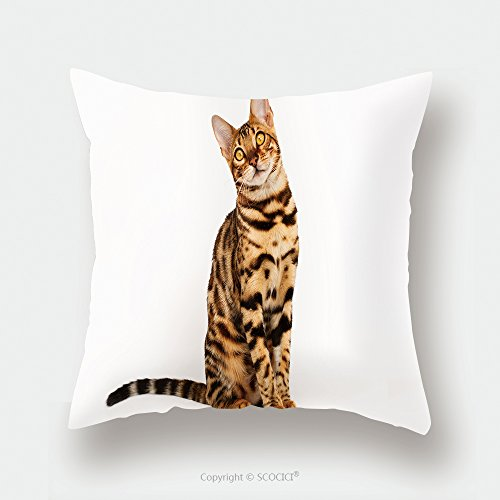 Custom Satin Pillowcase Protector Bengal Cat 271852916 Pillow Case Covers Decorative