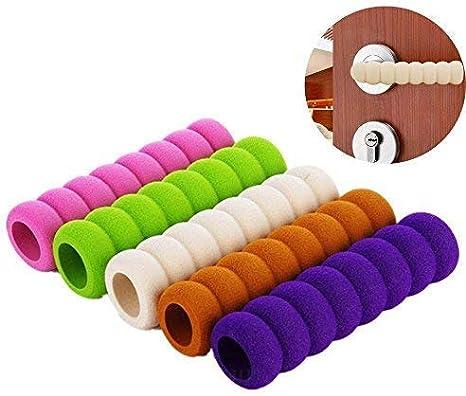 Manija de la puerta Protector 10Pack Mango de protecci/ón Cubre Soft Foam Kid Baby Manija de la puerta de seguridad Perilla Gaurd Beige Color