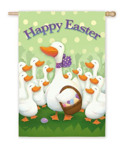 Happy Easter Silk Reflections Garden Size Flag