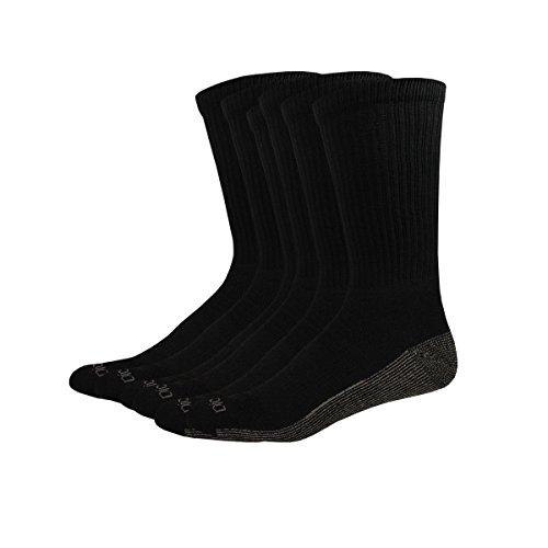 Dickies Multi-Pack Dri-Tech Moisture Control Crew Socks Black 6  Sock Size: 13-15/Shoe Size: 12-15