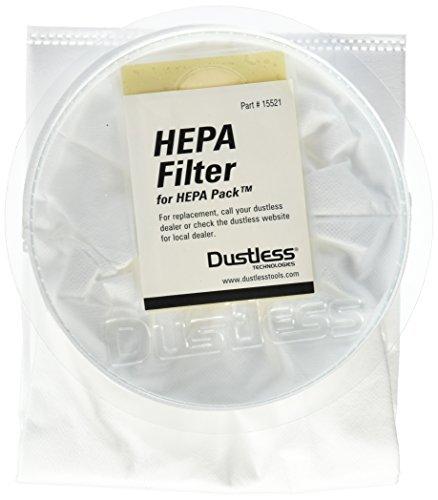 Dustless Technologies 15521 HEPA Filter for Dustless Backpack , Small, White by Dustless Technologies