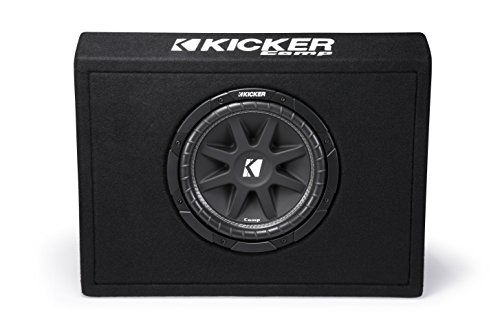 - Kicker Single 10-Inch Comp 4 Ohm 150W Loaded Subwoofer Enclosure Box | 43TC104