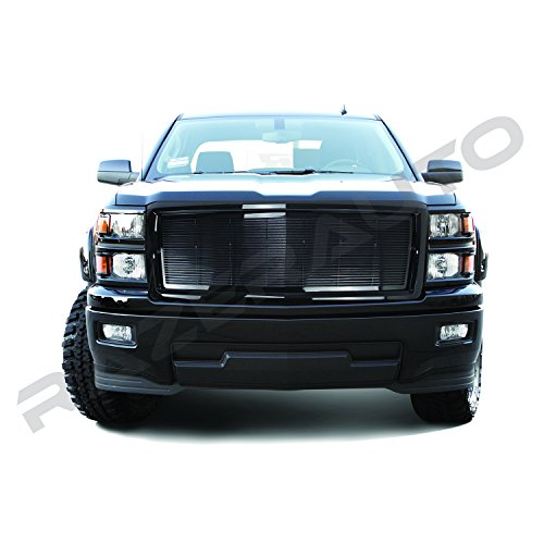 1500 Billet Putco Grille (Razer Auto Gloss Black Billet Grille Complete Factory Replacement Grille Shell for 2014-2015 Chevy Silverado 1500)