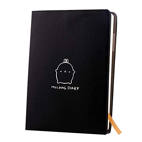 Haiker Black'Molang Rabbit' Diary Any Year Planner Pocket Journal Notebook Agenda Scheduler