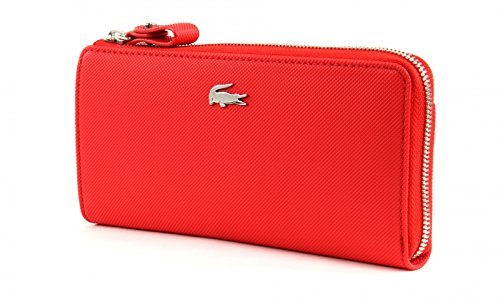LACOSTE Daily Classic Slim Zip Wallet High Risk Red