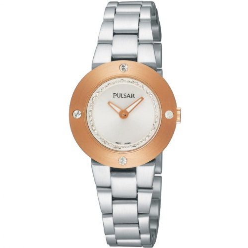 Pulsar PTA404 28 Rose Gold Case Steel Bracelet Mineral Women's Quartz Watch