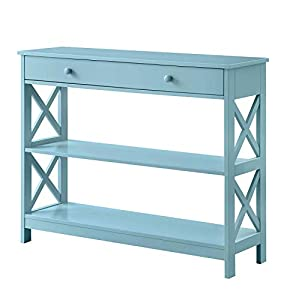 picture of Convenience Concepts Oxford 1-Drawer Console Table, Sea Foam