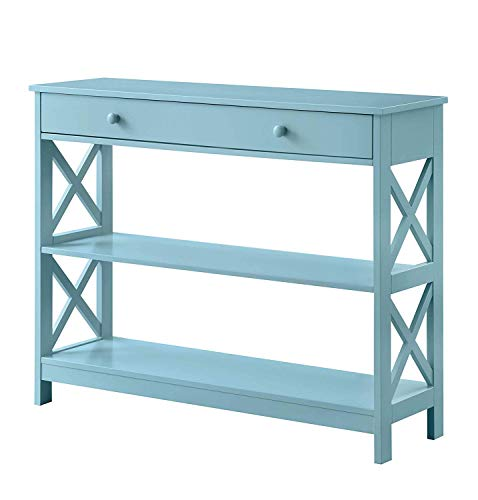 Convenience Concepts Oxford 1-Drawer Console Table, Sea Foam,convenience concepts