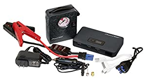 PowerNOW Jump Deluxe 400A Peak, 7500mAh Portable Car Jump Starter External Battery Power Bank with Air Compressor and LED Flashlight