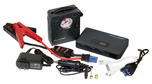 PowerNOW Jump Deluxe 400A Peak, 7500mAh Portable Car Jump Starter External Battery Power Bank with Air Compressor and LED Flashlight by PCT Brands