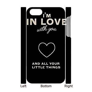Personalized New Print Case for iPhone 5c 3D, One Direction Quotes Phone Case - HL- 5c36699