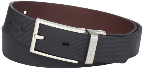 Kenneth Cole Designer Belt (Kenneth Cole REACTION Men's Textured Engraved-Logo)
