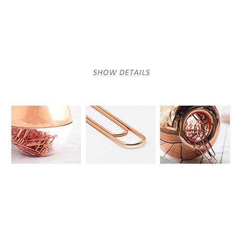 TOOGOO 100 fermasoldi in dispenser magnetico in oro rosa oro rosa fermacarte in oro rosa 28 mm 100 fermi per scatola