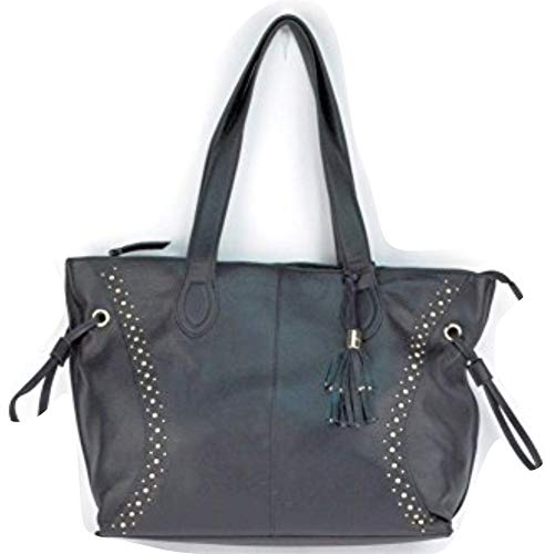 (Franco Sarto Lafayette Black Leather Totes & Shoppers)