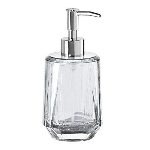 Oggi Gem 12oz Acrylic Lotion and Soap Dispenser for Kitchen or Bath-Clear