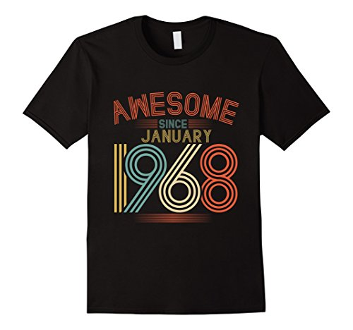 Awesome Since Jaunuary 1968 T-Shirt Funny 50th Birthday Tee