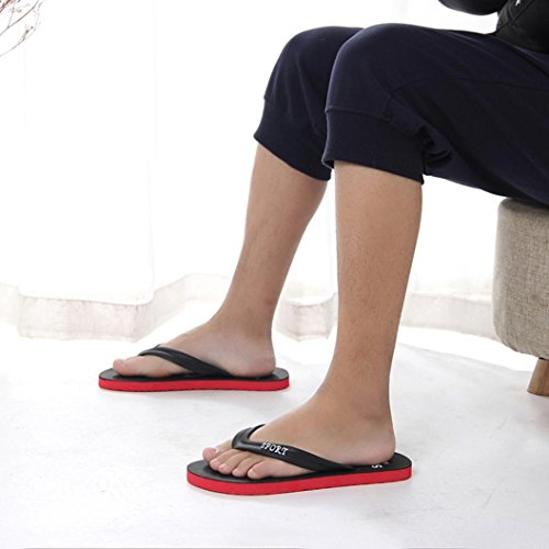 hunpta Men's Slipper, Men's Summer Flip-Flops Slippers Beach Sandals Indoor&Outdoor Leisure Shoes Black