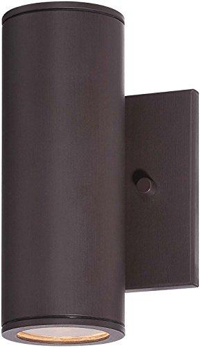 Minka Lavery Outdoor Cylinder Wall Light 72501-615B-L Skyline Exterior Wall Lantern, 1-Light LED 11 Watts, Dorian Bronze (Outdoor Skyline Products)