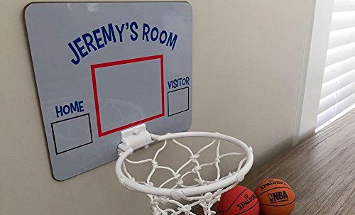 (Qualtry Personalized Mini Basketball Hoop Wall Mount - Unique Birthday Gifts for Boys Kids (Jeremy Design))