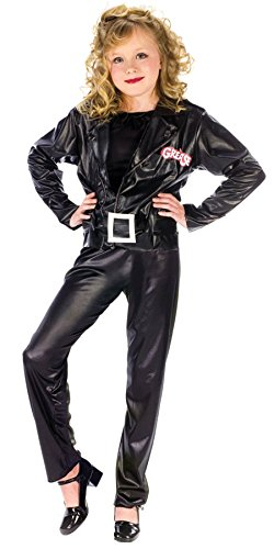 Girls Grease Cool Sandy Kids Child Fancy Dress Party Halloween Costume, L (12-14)