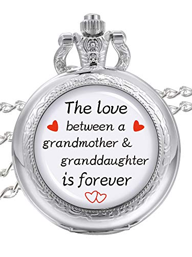 Pangda Pocket Watch The Love Between A Grandmother and Granddaughter is Forever Watch Jewelry Gift