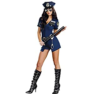 WANLOVE Femmes Halloween Costume Sexy Policier Uniforme Cosplay Lingerie Flic Tenues