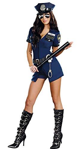 WANLOVE Femmes Halloween Costume Sexy Policier Uniforme Cosplay Lingerie Flic Tenues