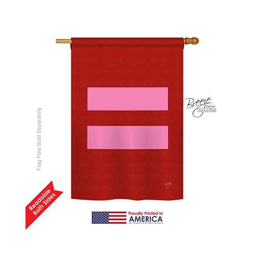 Breeze Decor H115087 Equality Decorative Vertical House Flag, 28