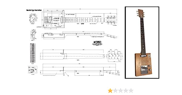 Plan de Una (6 cuerdas) eléctrico Cigar Box Guitar – Escala ...