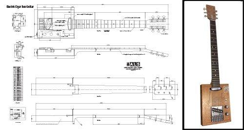 Plan de Una (6 cuerdas) eléctrico Cigar Box Guitar - Escala completa impresión: Amazon.es: Instrumentos musicales