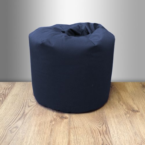 Small Childrens 100% Cotton Twill Pre-Filled Bean Bag, Navy Blue Ready Steady Bed