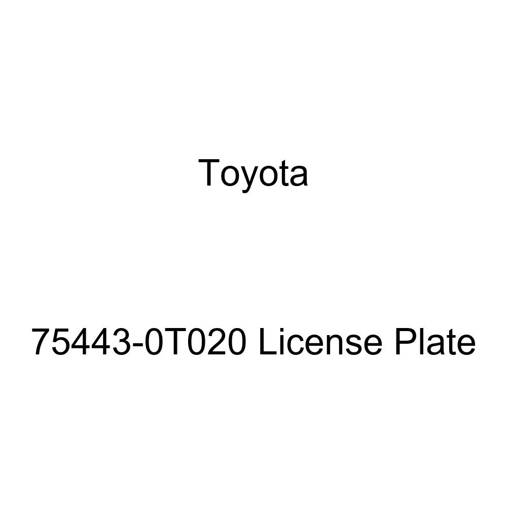 TOYOTA 75443-0T020 License Plate