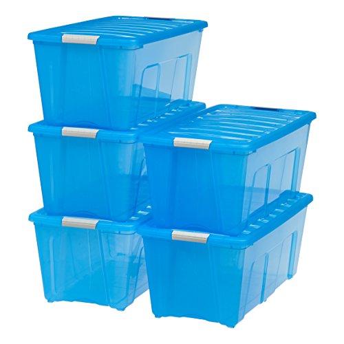 IRIS 83 Quart Stack & Pull Box, 5 Pack by IRIS USA, Inc.