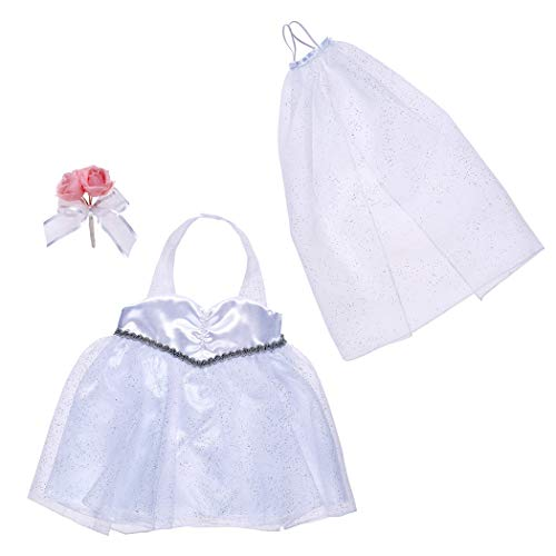 Build A Bear Workshop Wedding Dress Set 3 pc.