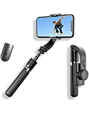 L08 Mobile Phone Stabilizer Anti-Shake Gimbal Stabilizer Selfie Stick Tripod 3 in 1 With Remote Handheld Gimbal Video Shooting Compatible With IOS & Android