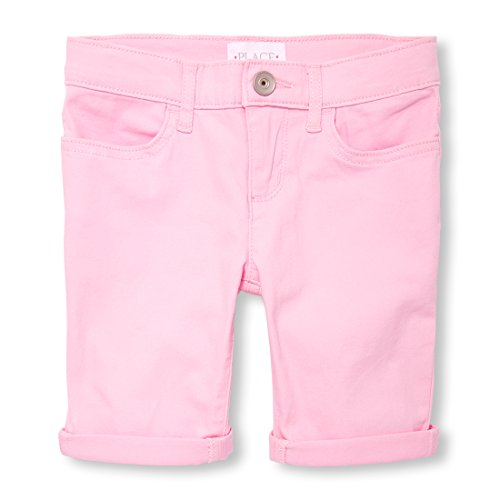 The Children's Place Big Girls' Basic Denim Skimmer Shorts, Charisma 9915, 8