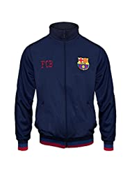 FC Barcelona Official Gift Boys Retro Track Top Jacket Navy 8-9 Years MB