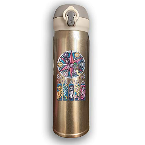 LightCa My Little Pony Stained Glass Window Fashion Stainless Steel Water Bottles Yellow One Size]()