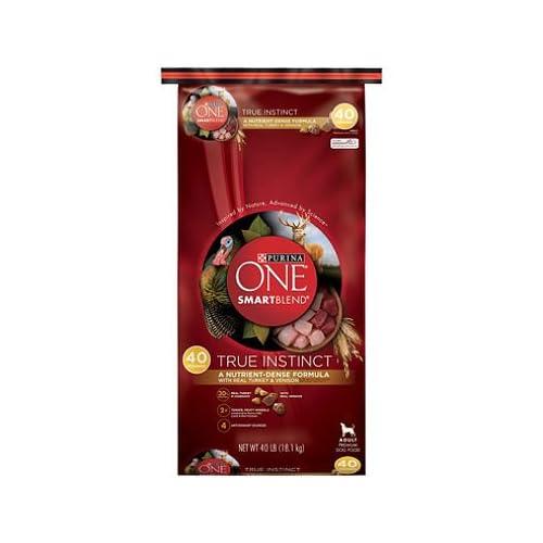 60%OFF Purina ONE SmartBlend Dog Food, Real Turkey & Venison (40 lbs.) (pack o 2)