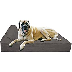 """Big Barker 7"""" Orthopedic Dog Bed with Pillow-Top (Headrest Edition) 