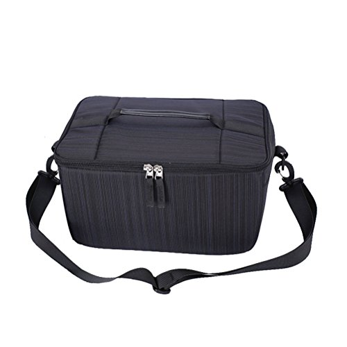 la la impermeable LEDMOMO de amortiguación de funcional de hombro Vibración cámara Multi cámara bolsa Negro Bolsa Sideways de wq88IxO