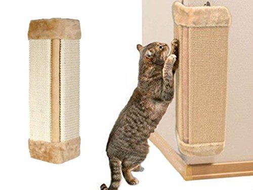 FiNeWaY Pet Kitten Corner Sisal Wall Scratcher Cats Hanging Cat Scratching Post Board