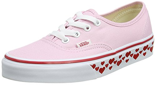 Vans UA Authentic, Zapatillas para Mujer Rosa (Hearts Tape Pink Lady/Red)